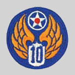 10th Air Force Patch 10th Army Air Force