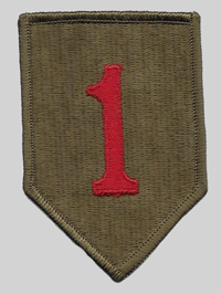 Big Red One Insignia Patch 1st Infantry Division