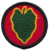 24th ID insignia patch 24th Infantry Division