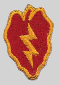 25th ID insignia patch 25th Infantry Division