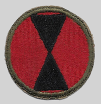 7th ID insignia patch 7th Infantry Division