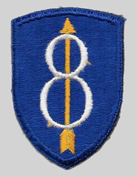 8th ID insignia patch 8th Infantry Division