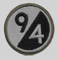 94th ID Insignia Patch 94th Infantry Division