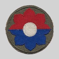 9th ID insignia patch 9th Infantry Division
