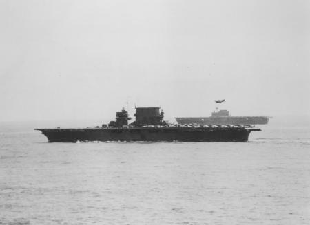 CV-3 at Guadalcanal 1942 with CV-6 USS Enterprise George W Holmes